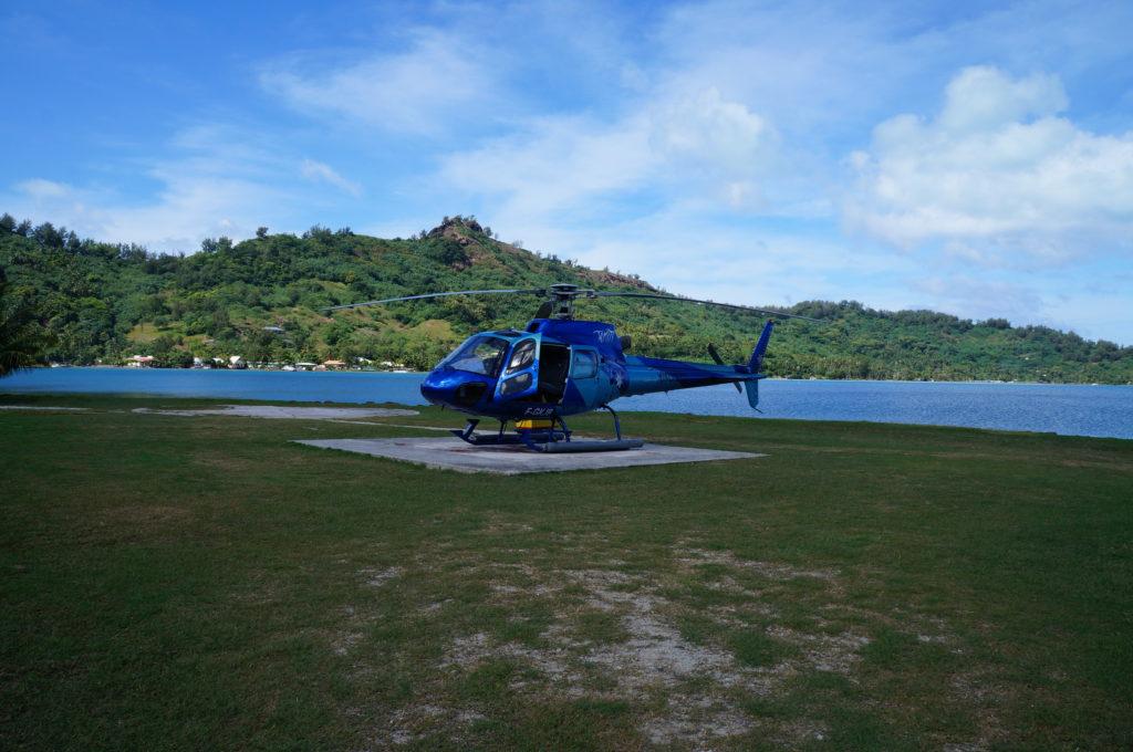 タヒチ ボラボラ島 ヘリ